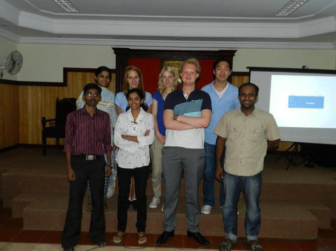 Het projectteam Waste Management 2012 in Kochi